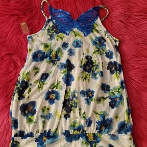 NWT Blue Butterfly Top